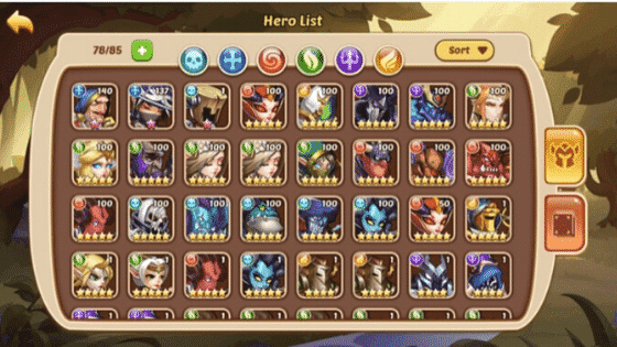 Idle heroes tier list
